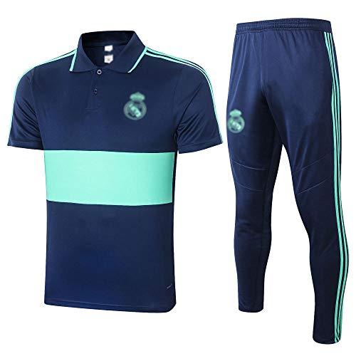 New's Football Uniform Gift Gift de Manga Corta Camisa de Polo de fútbol de Entrenamiento de fútbol Uniforme de Fan Uniforme Shorts Fútbol Sportswear-Fashion-148-medio