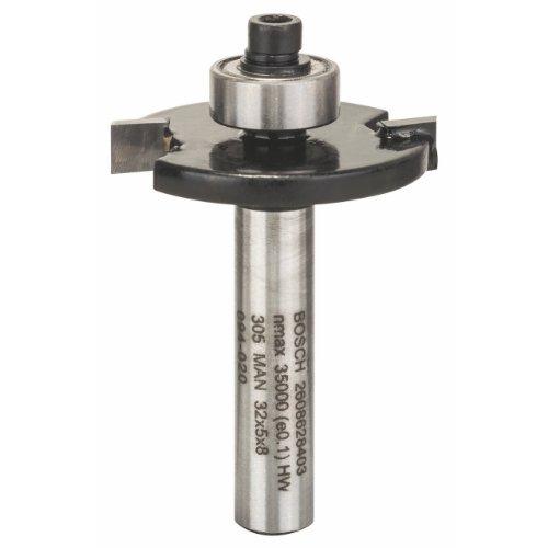 Bosch Professional Zubehör 2 608 628 403 Scheibennutfräser 8 mm, D1 32 mm, L 5 mm, G 51 mm