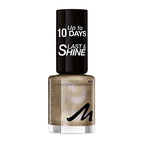 Manhattan Last und Shine Nagellack, Nr.260 Golden Confidence, 1er Pack (1 X 10 ml)