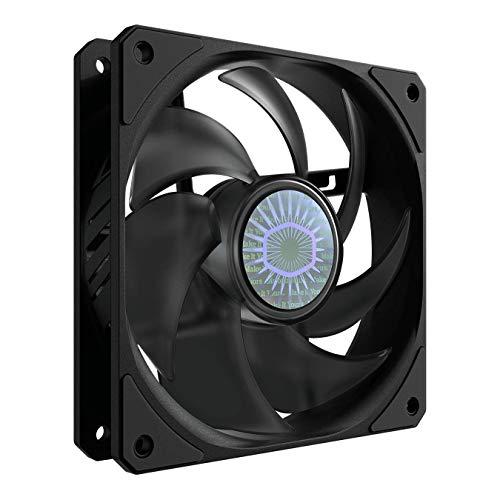Cooler Master SickleFlow 120 V2 Case in Nero & Ventola di Raffreddamento - Pale Air Balance ottimizzate, 62 CFM, 2,5 mm H2O, da 8 a 27 dB - Nero