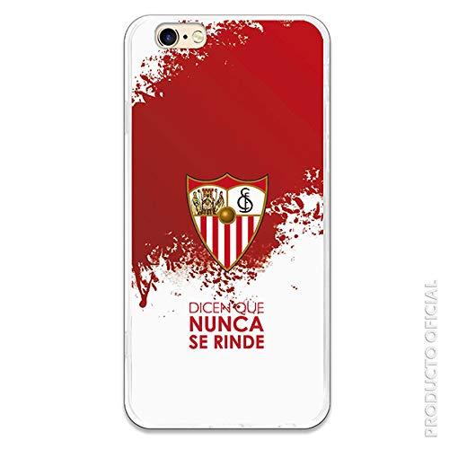 Funda para iPhone 6-6S Oficial del Sevilla FC Sevilla Dicen Que Nunca se Rinde para Proteger tu móvil. Carcasa para Apple de Silicona Flexible con Licencia Oficial del Sevilla FC.