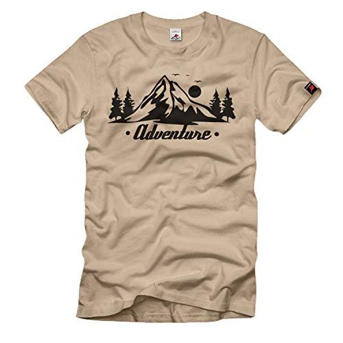 Adventure Wildniss Wald Überleben Prepper Bushcraft Survival T-Shirt#36678, Größe:S, Farbe:Sand