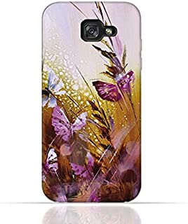 Samsung Galaxy A5 2017 TPU Silicone Case with Butterfly Oil Paint Pattern
