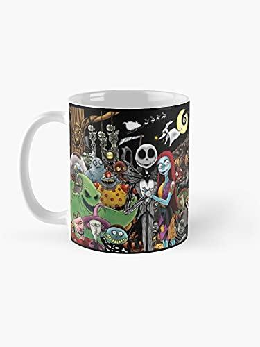 Taza de café artístico con diseño de Pesadilla antes de Navidad (11 onzas líquidas)