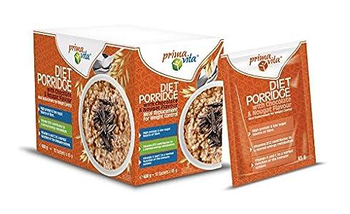 Primavita - Gachas de avena dietéticas sustitutivas de comidas, sabor a turrón de praliné, 65g