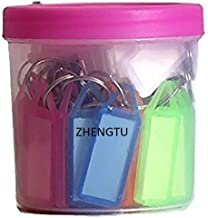 ZHENGTU Key and Tag Label Keychain - Pack of 50