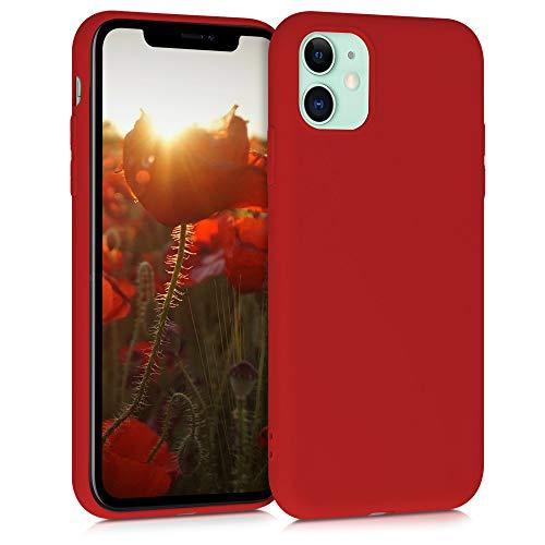kwmobile Cover Compatibile con Apple iPhone 11 - Custodia in Silicone TPU - Backcover Protezione Posteriore- Rosso Matt