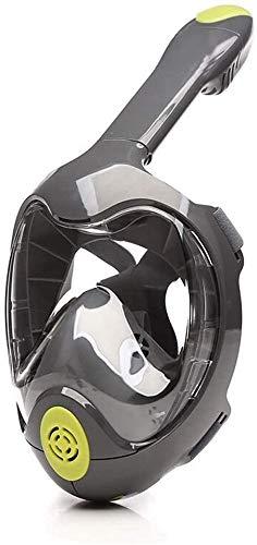 ZouYongKang Máscara de snorkel Cara completa, máscara de snorkel de cara completa Adulto y niños con montaje de cámara desmontable, máscara de snorkeling 180 vista panorámica anti-niebla antideslizant