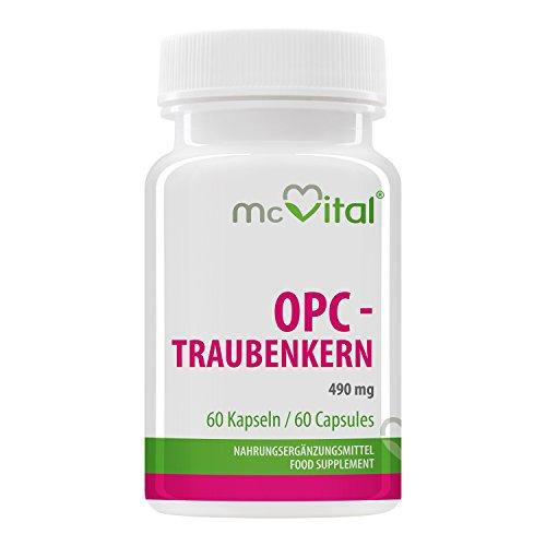 OPC - Traubenkern - 490 mg - mit Vitamin B2 - hochdosiertes Antioxidationsmittel für Ihre...
