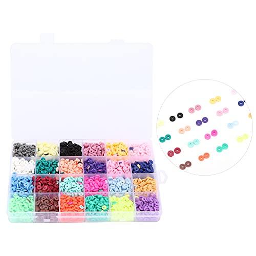 Cuentas espaciadoras de Arcilla, Kit de Marcado de Joyas práctico 4560 Piezas Cuentas de Pulsera Impermeables para Collar para Pulseras para Manualidades para Bricolaje para joyería