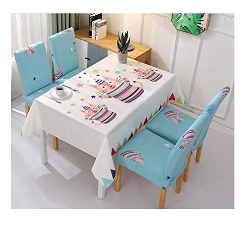 Yanxinejoy Tafelkleed, waterdicht, stof, set met stoelen voor eettafel, overtrek voor Nordic stoel, tafelmat voor studenten