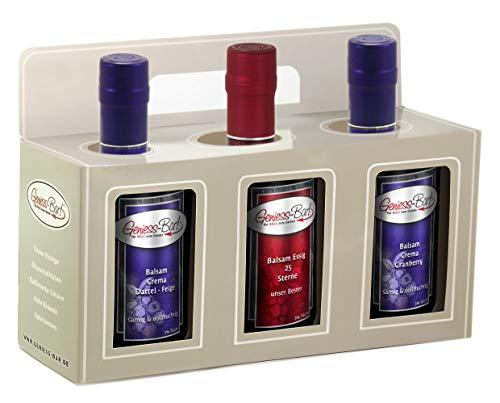 Geschenkbox 3x 0,5L Crema Dattel Feige, Cranberry, 25 Sterne Manufaktur Qualität