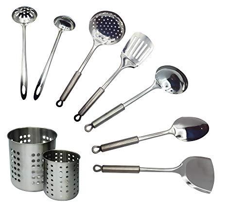 EUROXANTY® Set di utensili da cucina   9 pezzi da cucina   Utensili antiaderenti   Utensili per la cucina   Indispensabile in cucina   Set 2