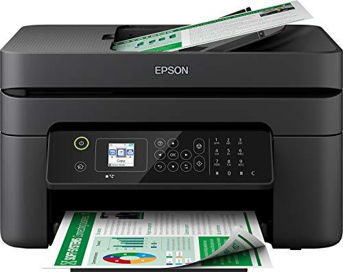 Epson WorkForce WF-2830DWF 4-in1-Tintenstrahl-Multifunktionsgerät, Drucker (Scannen, Kopieren, Fax, WiFi, ADF, Duplex, Einzelpatronen, DIN A4) Amazon Dash Replenishment, schwarz