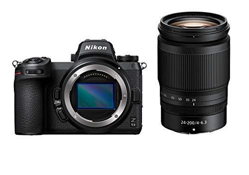 Nikon Z 6II Spiegellose Vollformat-Kamera mit Nikon 24-200mm 1:4,0-6,3 VR (24,5 MP, 14 Bilder pro Sekunde, Hybrid-AF, doppeltes Speicherkartenfach, 4K UHD Video mit 10-Bit-HDMI-Ausgabe)