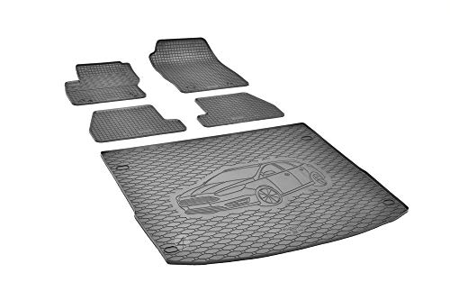 Passende Gummimatten und Kofferraumwanne Set geeignet für Ford Focus Turnier 2011-2018