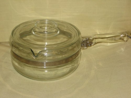 VINTAGE Corning Pyrex Flameware 1 1/2 Quart Sauce Pan Pot w/Lid