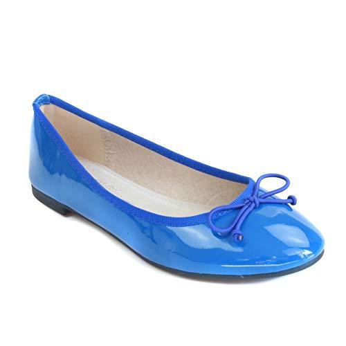 No Name Ballerines Vernies Bleu Femme Semelle...