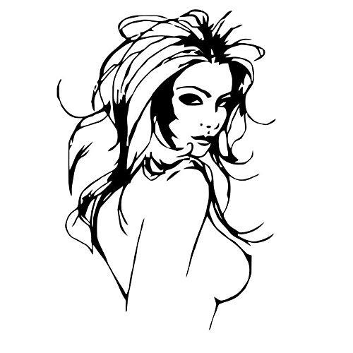Pegatina Promotion Sexy Frauenoberkörper mit nackter Brust 25cm Aufkleber,Autoaufkleber,Lack,Scheibe,Wand, UV& Waschanlagenfest Profi Qualität UV& Waschanlagenfest,Profi Qualität