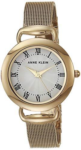 Anne Klein Reloj de pulsera de malla para mujer.