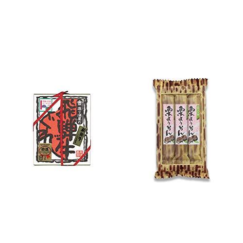 [2点セット] 天領酒造 飛騨牛100% 造り酒屋の飛騨牛しぐれ(80g)・スティックようかん[栗](50g×3本)