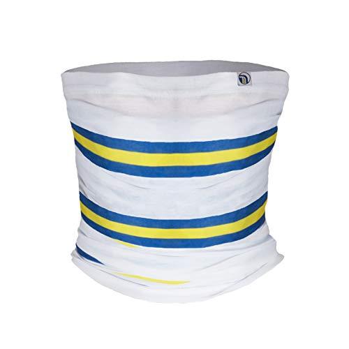 fan originals Snood Neck Scarf - White Blue Yellow Leeds United Colours