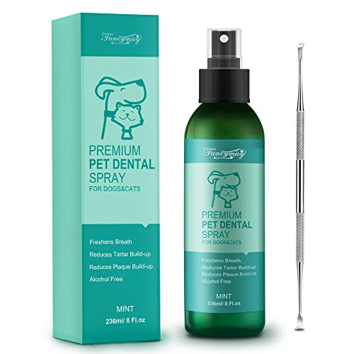 Fancymay Premium Pet Dental Spray (Large - 8Oz) for Dogs and Cats, Eliminate Bad Dog Breath and Bad Cat Breath, Fights Pet Tartar Build Up, Dog Dental Care To Refresh Breath