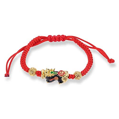 TYUXINSD Hermosa Pi Xiu Charm Color Cambiar Temperatura Kabbalah Red String Braided Hood Pulseras