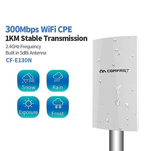 1KM WiFi Alcance inalámbrico al Aire Libre CPE Router WiFi Extender 2.4G 300Mbps WiFi Puente Punto de Acceso Ap WiFi de la Antena del repetidor CF-E130