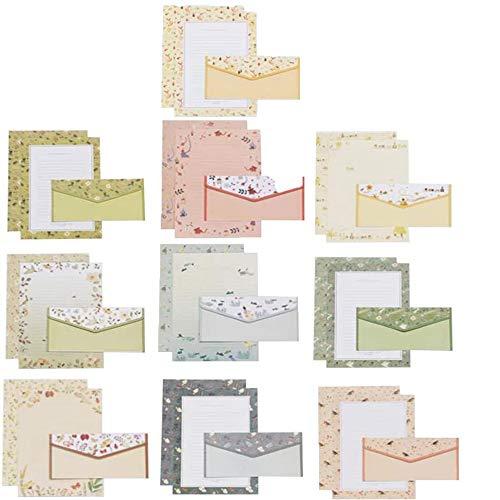 Briefumschlag Briefpapier Set, 90 Stück Schreibpapier Motivpapier, Briefpapier und Umschläge, Schreibpapier Motivpapier, Schreibpapier und Umschläge, für Herstellung von Einladung, Geschenk