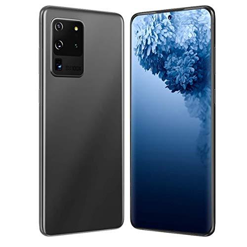 EANSSN - Teléfono inteligente con pantalla completa de 6,8 pulgadas, red 4G, 5G, desbloqueo de la huella digital del reconocimiento facial (batería de 4800mAh, 8 GB + 512 GB), color gris