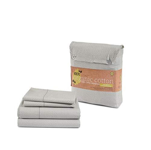 Juego de sábanas de algodón 100 % orgánico, puro algodón orgánico, tejido de percal largo ultrasuave, las mejores sábanas para cama, certificado GOTS, se adapta a colchones...