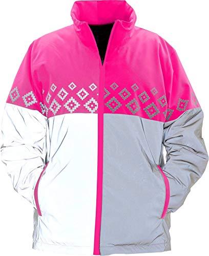 Equisafety Reversible Jacket, Accessori Equestri Unisex-Adulto, Luminosa-Giacca Reversibile, XL