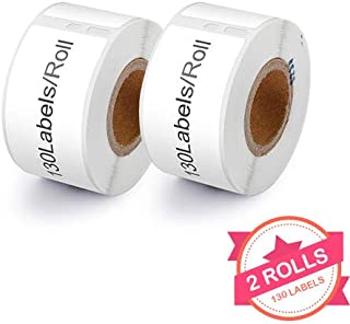 2 Rolls Compatible with Dymo 30327 White 1-Up File Folder Labels for Dymo LabalWriter 450 4XL, 9/16'' x 3-7/16'', 130 Labels per roll