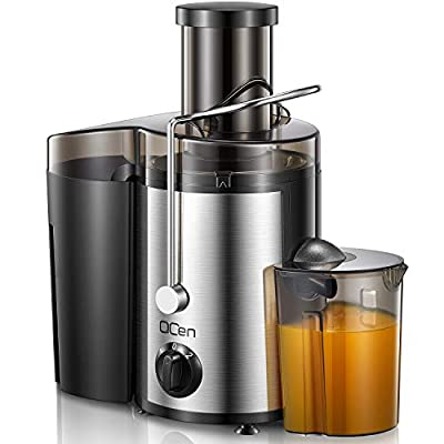"""Centrifugal Juicer Machine, Juicer Extractor with Wide Mouth 3"""" Feed Chute for Fruit Vegetable, Easy to Clean, Stainless Steel, BPA-free"""
