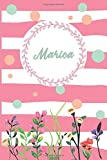 Marica: Personalized Name Journal, Writing Notebook For Girls and women named Marica, Perfect gift idea for women and girls, floral design, 120 pages, 6 x 9 in, Matte Cover.