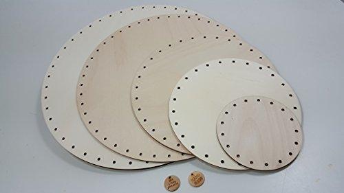 Unbekannt Peddigrohr Boden 26 cm rund, mit Holzlabel