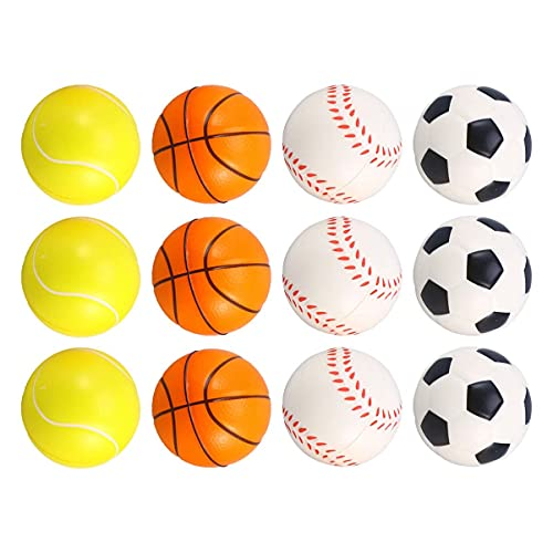 NUOBESTY 12pcs Foam Sports Balls Slow Rising Toys Mini Sponge Soccer Balls...