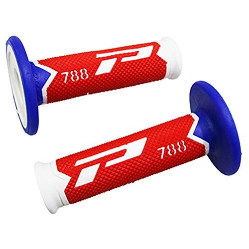 Progrip REVETEMENT POIGNEE off Road 788 Triple DENSITE Special Edition Blanc-Rouge-Bleu 115mm (PAIRE) (Cross-MX)
