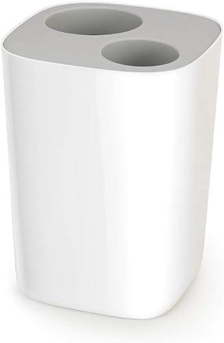Joseph Joseph Split Bathroom Waste Seperation Bin, Grey/White