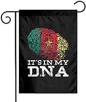 その私のDNAカメルーンの旗ガーデンフラッグ12x18両面ファーム芝生屋外装飾ガーデンバナー
