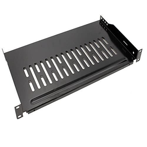 """RackMatic - Bandeja estanteria para Armario Rack 19"""" fijación Frontal 1U Profundidad de 255 mm"""