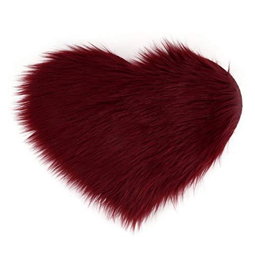 MOHAN88 1 Stück grenzüberschreitende Imitation Wolle Pfirsich Herz Teppich Matte...