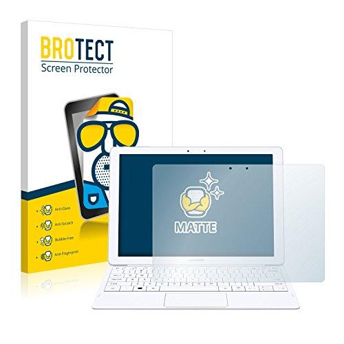 BROTECT 2X Entspiegelungs-Schutzfolie kompatibel mit Samsung Galaxy Tab Pro S Bildschirmschutz-Folie Matt, Anti-Reflex, Anti-Fingerprint