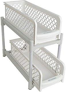 أدراج السلال المنزلقة ذات طبقتين سهلة الحمل والنقل لتخزين خزانة المطبخ