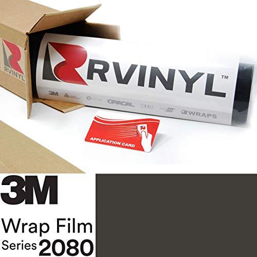 3M 2080 M12 Matte Black 5ft x 1ft W/Application Card Vinyl Vehicle Car Wrap Film Sheet Roll