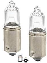 2x St. CLEAR H10W BA9s 12V 10Watt gloeilampen gloeilamp halogeenlampen 9mm metalen bajonetfitting binnenverlichting, parke...