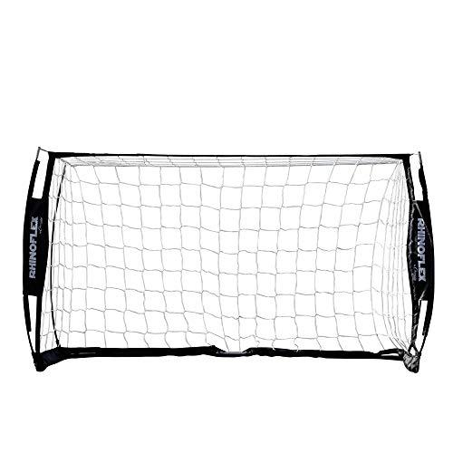 Champion Sports Unisex's Rhino Flex 3' x 5' Soccer Goal, Black Frame/White Net