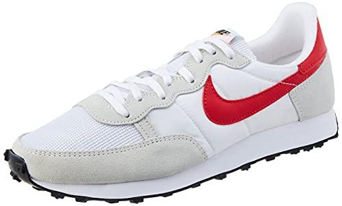 Nike Zapatillas de running para hombre, blanco/rojo (White/University Red), 45.5 EU
