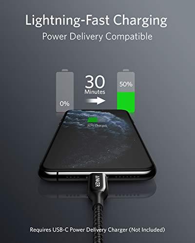 Anker Powerline+ III USB-C auf Lightning Ladekabel,90cm lang,Lightning Kabel mit MFi Zertifizierung,für iPhone SE/11/11 Pro/11 Pro Max/X/XS/XR/XS Max/8/8 Plus/AirPods Pro, unterstützt Power Delivery